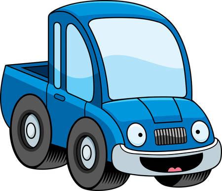 camioneta pick up: Una ilustraci�n de dibujos animados de una camioneta sonriendo. Vectores
