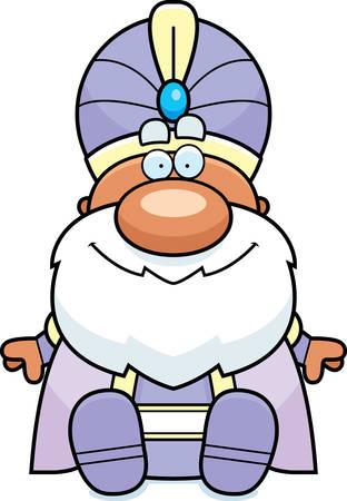 maharaja: A cartoon illustration of a maharaja sitting.