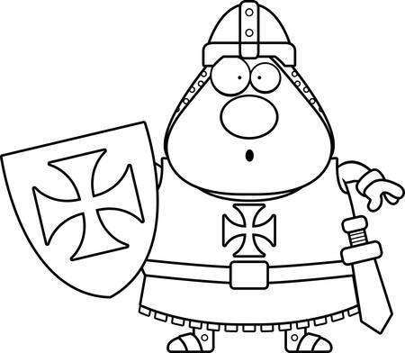crusader: A cartoon illustration of a Templar knight looking surprised.
