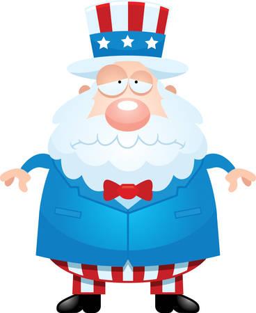 A cartoon illustration of Uncle Sam looking sad.