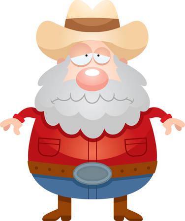 prospector: Una ilustración de dibujos animados de un minero que parece triste.