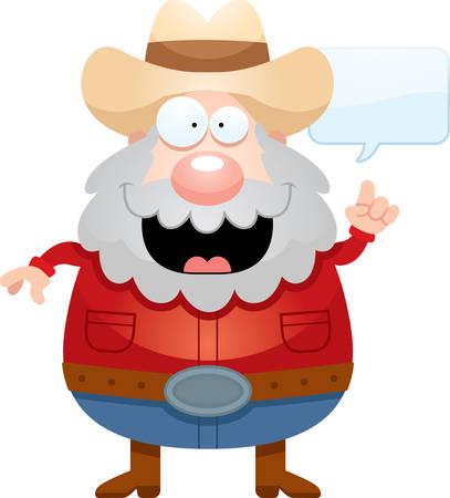 miner: A cartoon illustration of a miner talking.