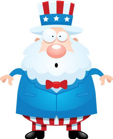 sam: A cartoon illustration of Uncle Sam looking surprised.