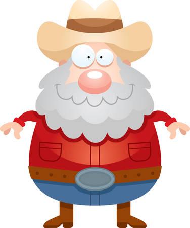 prospector: Un ejemplo de la historieta de un minero que parece feliz. Vectores