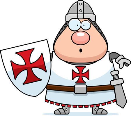 A cartoon illustration of a Templar knight looking surprised.