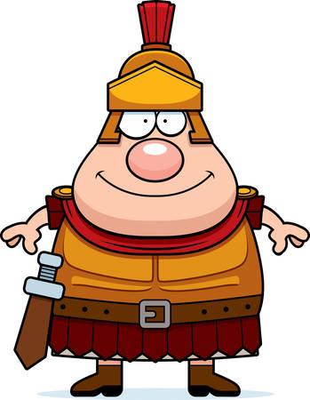 A cartoon illustration of a Roman Centurion looking happy.