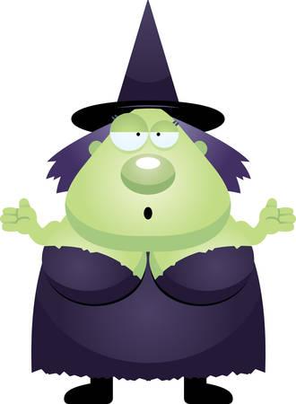 brujas caricatura: Un ejemplo de la historieta de una bruja que parece confundido.