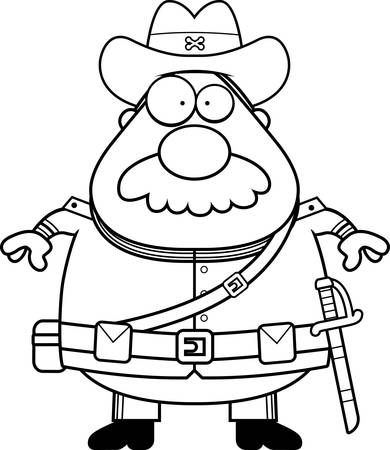 a cartoon illustration of a civil war confederate soldier with