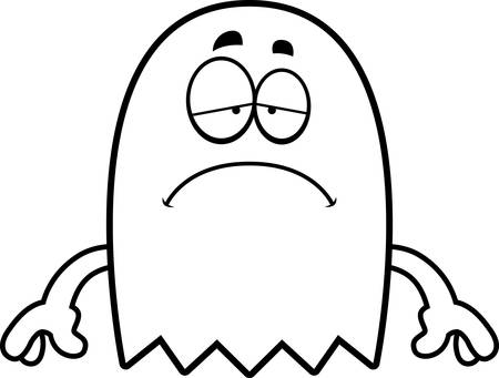 spectre: A cartoon illustration of a ghost looking sad.