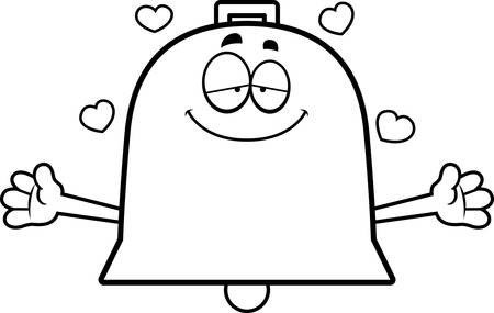 A cartoon illustration of a bell ready to give a hug. Ilustracje wektorowe