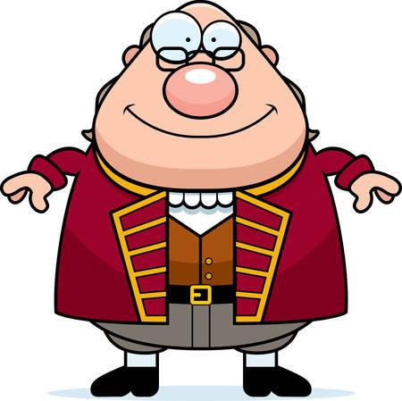 bifocals: A cartoon illustration of Ben Franklin looking happy.