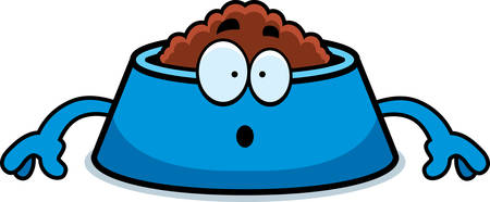 dog bowl: A cartoon illustration of a dog bowl looking surprised.