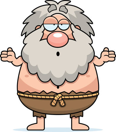hermit: A cartoon illustration of a hermit looking confused.