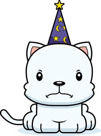 A cartoon wizard kitten looking angry. Reklamní fotografie - 44602944