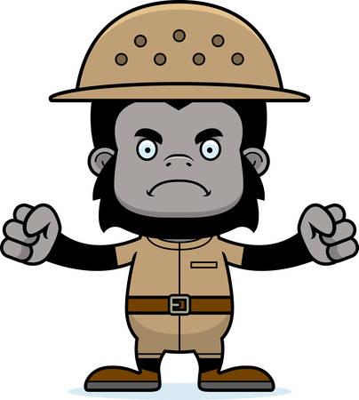 adventurer: A cartoon zookeeper gorilla looking angry.