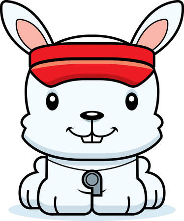 lifeguard: A cartoon lifeguard bunny smiling.