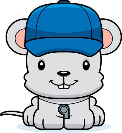 rata caricatura: Un entrenador de rat�n de dibujos animados sonriendo. Vectores