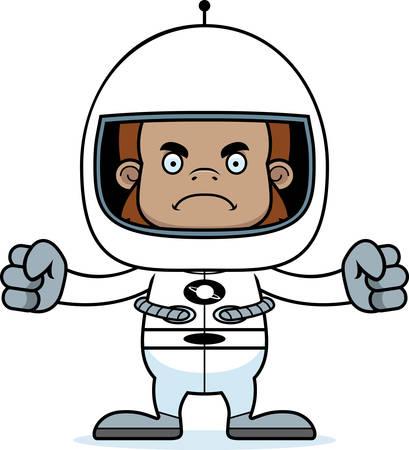 sasquatch: A cartoon astronaut sasquatch looking angry.
