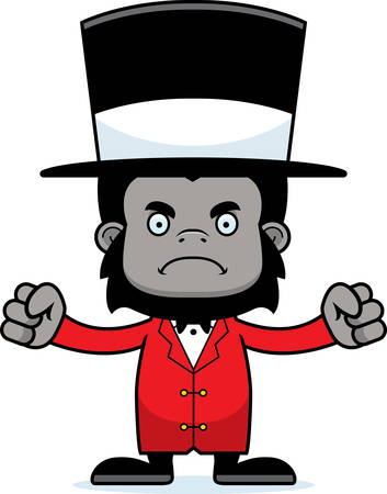 frown: A cartoon ringmaster gorilla looking angry.