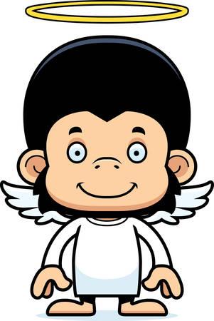 angel: A cartoon angel chimpanzee smiling.