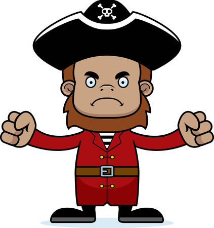 sasquatch: A cartoon pirate sasquatch looking angry.