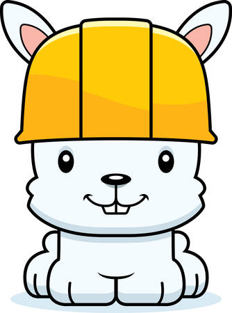 tool belt: A cartoon construction worker bunny smiling.