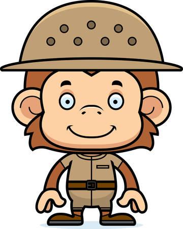 adventurer: A cartoon zookeeper monkey smiling.