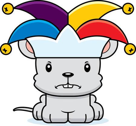rata caricatura: Un rat�n de buf�n de la historieta que parece enojado.