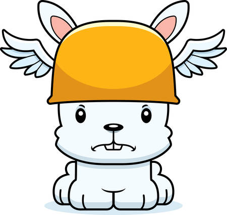 hermes: A cartoon Hermes bunny looking angry. Illustration