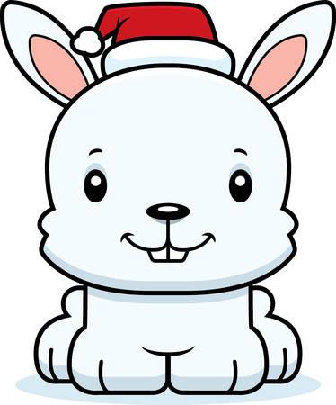 bunny xmas: A cartoon Xmas bunny smiling. Illustration