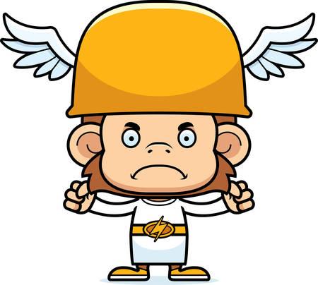 hermes: A cartoon Hermes monkey looking angry.