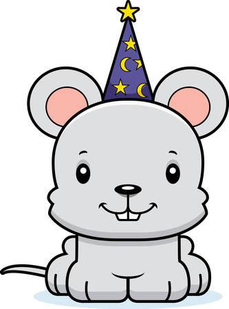 A cartoon wizard mouse smiling.
