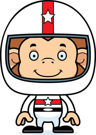 daredevil: A cartoon race car driver monkey smiling.