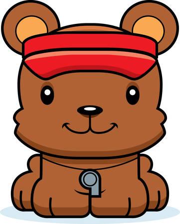 笑みを浮かべて漫画ライフガード クマ。