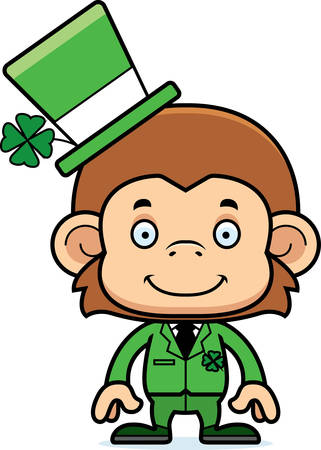 irish: A cartoon Irish monkey smiling.