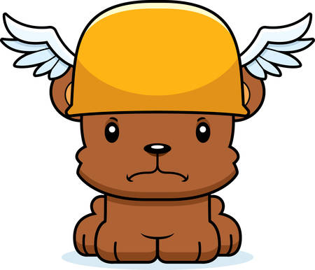 hermes: A cartoon Hermes bear looking angry.