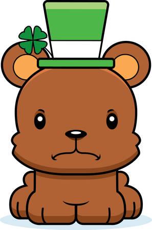 irish: A cartoon Irish bear looking angry.
