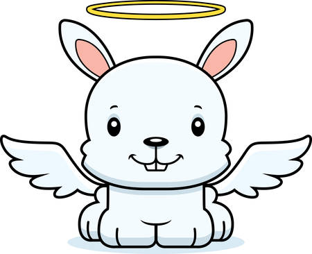 angel: A cartoon angel bunny smiling.