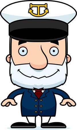 Een cartoon kapitein man glimlachend. Stockfoto - 44669924