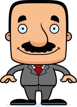 businessperson: A cartoon businessperson man smiling.
