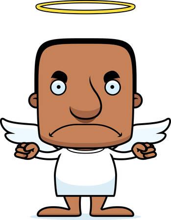 angry angel: A cartoon angel man looking angry.