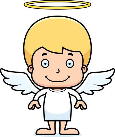 angel: A cartoon angel boy smiling.