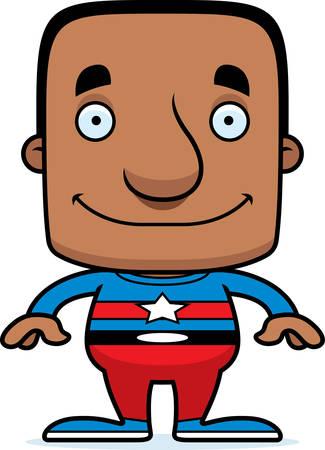 tights: A cartoon superhero man smiling.