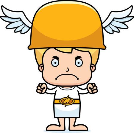 hermes: A cartoon Hermes boy looking angry.
