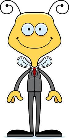 businessperson: A cartoon businessperson bee smiling.