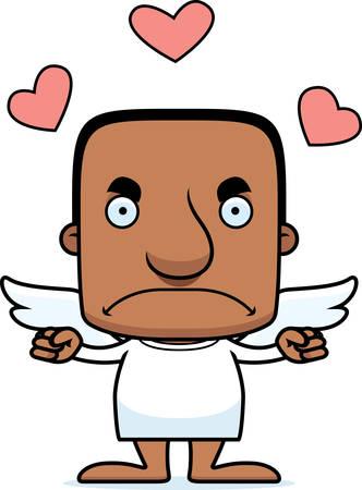 cupid man: A cartoon cupid man looking angry.