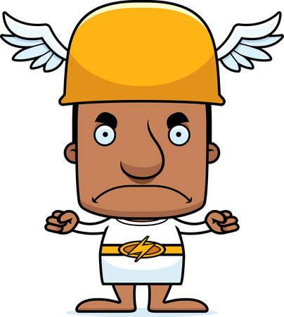 hermes: A cartoon Hermes man looking angry.