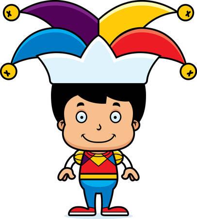 jester: A cartoon jester boy smiling.
