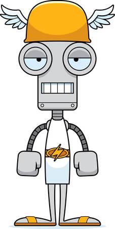 bored: A cartoon Hermes robot looking bored.