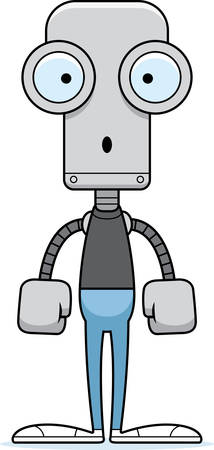 A cartoon robot looking surprised. Illusztráció